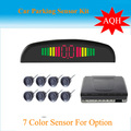 CCar LED Parking Sensor Monitor Auto Reverse Backup Radar Detector System + LED Display + 4 Sensors many colors to  wholesale