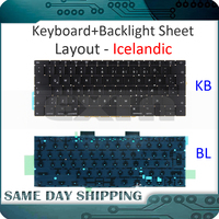 NEW Laptop for Macbook Pro Retina 13 A1708 Keyboard Icelandic Iceland +Backlight Backlit EMC 3164 EMC 2974 MLL42 MPXQ2 2016/17