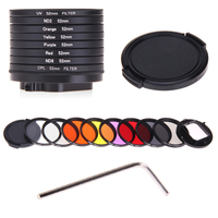 Camera Accessories For GoPro HERO5 HERO 5 52mm 8 In 1 Lens Filter CPL UV ND8
