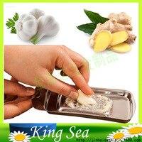 Free Shipping Garlic Press Stainless Steel Garlic Grater Dicer Ginger Mash Slicer Spice Mincer Gadgets Cooking