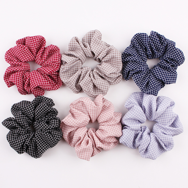 Stripe Womens Hair Accesorios Ladies Tie Striped Lady Scrunchies Ponytail Female Scrunchy Elastic Hair Ropes Headwear For Women in Women 39 s Hair Accessories from Apparel Accessories