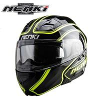 NENKI Motorcycle Helmet Flip Up Helmet Open Face Moto Helmet Double Lens Motociclista Dirt Bike Helmet