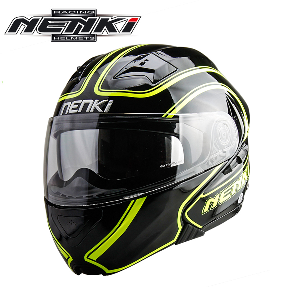 NENKI Motorcycle Helmet Flip Up Helmet Open Face Moto Helmet Double Lens Motociclista Dirt Bike Helmet Casque Four Seasons 815 masei mens womens war machine gray ironman iron man helmet motorcycle helmet half helmet open face helmet abs casque motocross
