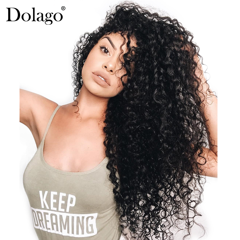 360 Lace Frontal Wig Pre Plucked With Baby Hair 180% Deep Wave Full Curly Bob Brazilian Lace Front Human Hair Wigs Dolago Remy
