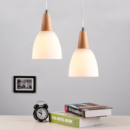 Nordic Style Pendant Lamp Wooden Art Modern Lighting Creative Pendant Light Cafe Dinning Room Lights Contains LED Bulbs nordic wrought iron simple modern pendant lamp with led bulb dinning room light cafe lamp e27 110v 220v free shipping