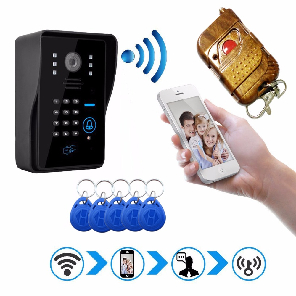 New Hot HD Wifi Doorbell Camera Wireless Video Intercom Phone Control IP Door Phone Wireless Door bell IOS Android 2016 new wifi doorbell video door phone support 3g 4g ios android for ipad smart phone tablet control wireless door intercom