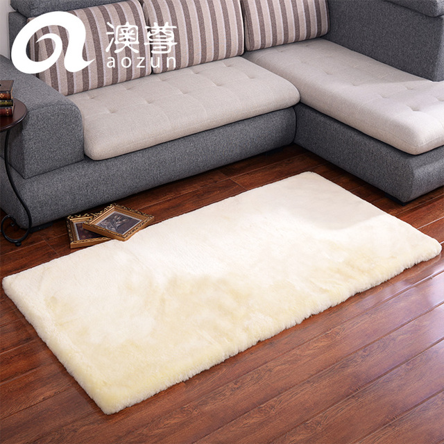 Pure Wool Carpet MATS Leather Short Bed Rugs Wool Sofa As Wool Pad  Customize Fur Wool