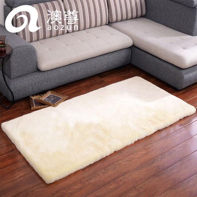 Tappeto in pura lana TAPPETINI In Pelle breve letto tappeti di lana ...