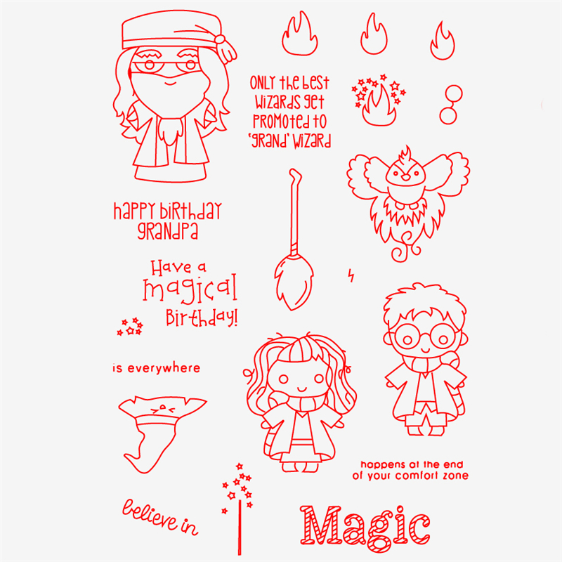 Grand Wizard Transparent Clear Silicone Stamp/Seal For DIY Scrapbooking/photo Album Decorative Clear Stamp Sheets HEM18