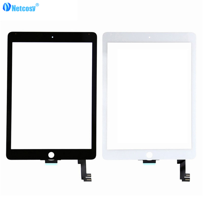 Netcosy Black / White Touchscreen For ipad Air 2 A1567 A1566 touch screen digitizer panel For ipad 6 netcosy for ipad air touchscreen high quality black