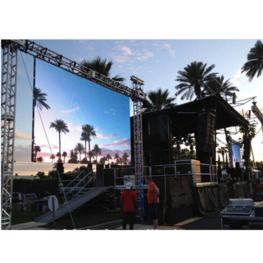 P4 Led Display 512x512mm Die Casting Aluminum Cabinet Outdoor Rental Led Display Screen P8 Smd Led Module 256x128mm