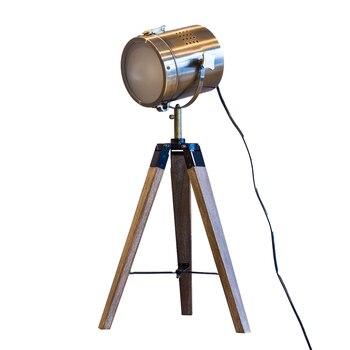 Kuzey Amerika pastoral köyü high-end Avrupa moda masa lambası metal ham ahşap metresi ayak iniş projektör lambası