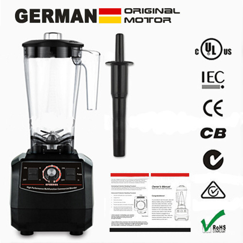 EU/UK/US/AU Plug 3HP BPA FREE commercial grade home professional smoothies power blender food mixer juicer food fruit processor no 1 quality bpa free 3hp 2l heavy duty commercial blender professional power blender mixer juicer food processor japan blade