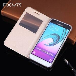 Image 1 - Flip Housse En Cuir Pour Samsung Galaxy J3 2016 GalaxyJ3 J 3 SM J320F J320FN J320H J302M SM J320F SM J320FN SM J320H