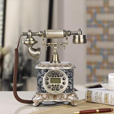 Atis patented European mosaic retro decorative antique antique phone fixed landline fashion