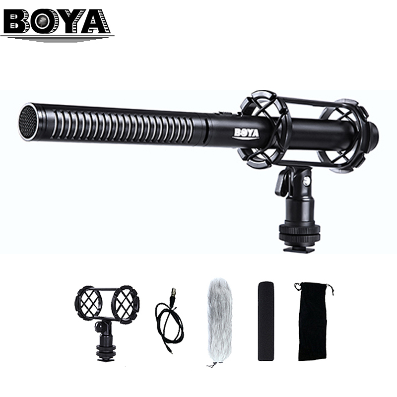 Professional BOYA BY PVM1000 DSLR Condenser Shotgun Microphone Video Interview Reporting for Canon Nikon Sony DSLR
