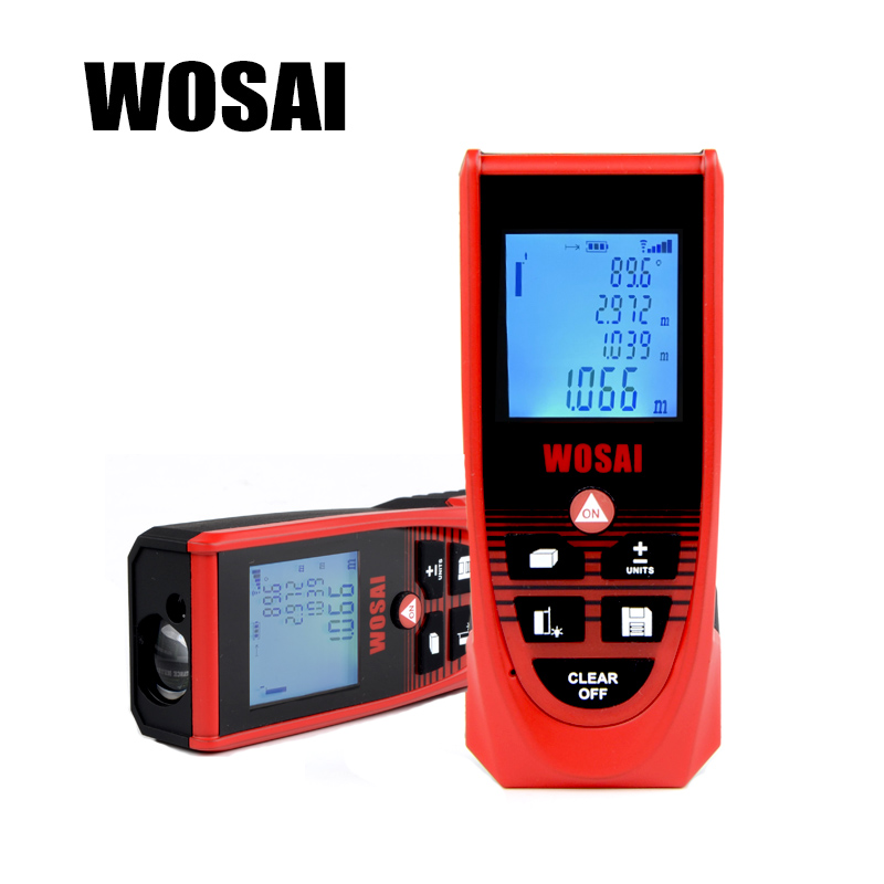 WOSAI Laser Rangefinder 40/60/80/100/120m distance meter Digital Handheld Display Laser Range Finder distance meter tape measure cp 40p 60p 80p 100p the new mini handheld laser range finder 40 m 100 meter distance meter