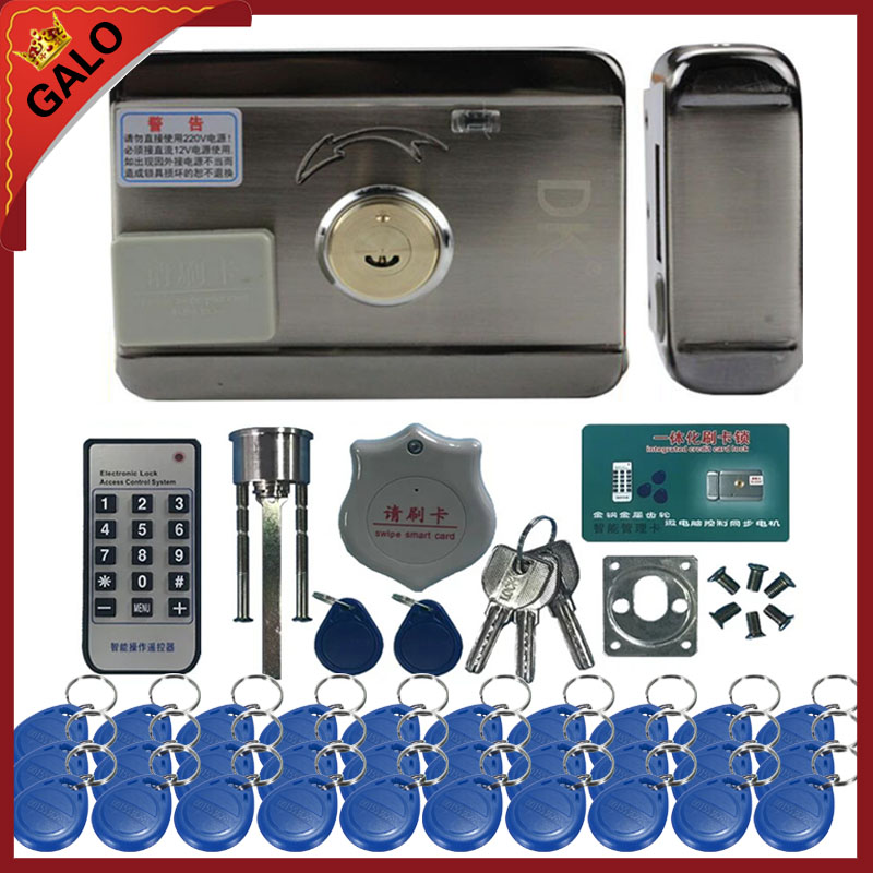 30pc tags Electronic Lock Electric Motor Lock Mute Door Lock Wired Home gate security lock Multiple sets of optional digital electric best rfid hotel electronic door lock for flat apartment