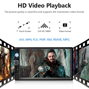 """Image 4 - جانسايت 7 """"كامل HD 1080P راديو السيارة MP5 لاعب DVD مع 8LED ضوء كاميرا خلفية شاشة تعمل باللمس بلوتوث مرآة رابط 2 الدين ستيريو سيارة"""