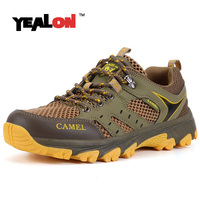 YEALON Summer Camel Hiking Shoes Men Women Hiking Shoes Mountain Sneakers Breathable Climbing Boots Sports Shoes