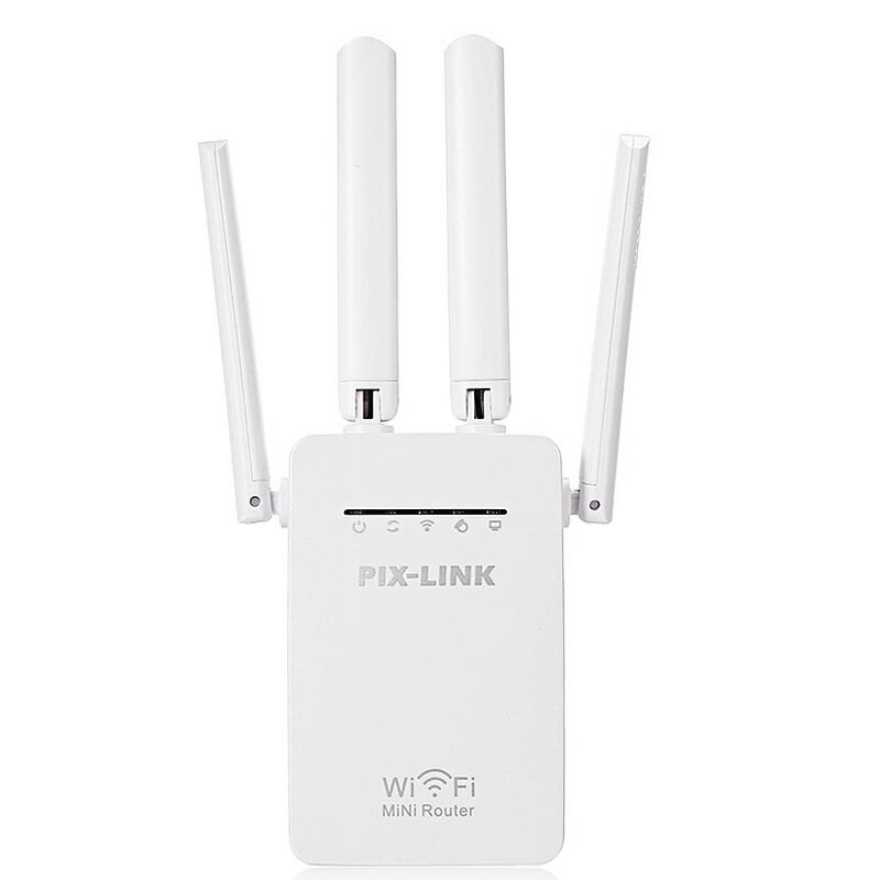 PIXLINK Original Wifi repetidor 300 Mbps Mini inalámbrico N Router Wi fi repetidor mucho extensor de rango de Reino Unido UE nos es macho WR09