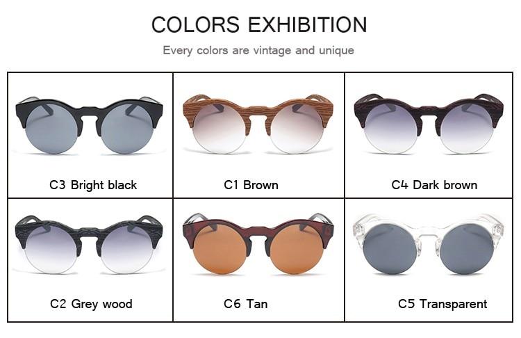 DRESSUUP Női kerek napszemüveg márkatervező Vintage félig perem - Ruházati kiegészítők - Fénykép 4