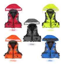 Unisex Polyester Fishing Life Jacket L-XXL Outdoor Sport Safety Life Vest For Boat Drifting Survival Swimwear Colete Salva-Vidas