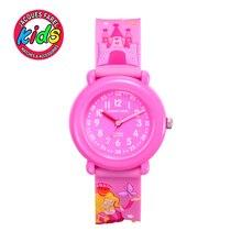 JACQUES FAREL Niños Niños del reloj relojes de moda lindo simple flor chica Relojes de pulsera de Cuarzo resistente al agua