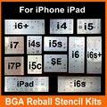 Микросхема BGA Реболлинга Трафарет Комплекты Набор для Пайки шаблон для iphone 4 4S 5 5C 5S 6 6 s 7 Плюс ES iPad высокое качество