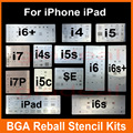 Chip ic bga reballing plantilla stencil kits set de soldadura para iphone 4 4S 5 5c 5S 6 6 s 7 plus es ipad de alta calidad