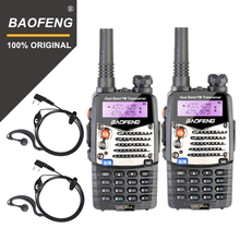 2PCS Baofeng UV5RA 워키 토키 UV 5RA 업그레이드 된 버전 UHF VHF 듀얼 밴드 CB 라디오 VOX FM 송수신기 양방향 라디오 사냥