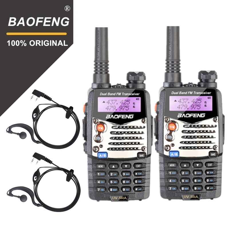 2PCS Baofeng UV5RA Walkie Talkie UV 5RA Upgraded Version UHF VHF Dual Band CB Radio VOX FM Transceiver for Hunting Two Way Radio-in Walkie Talkie from Cellphones & Telecommunications