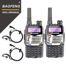 2pcs baofeng uv5ra walkie talkie UV 5RA versão atualizada uhf vhf banda dupla rádio cb vox fm transceptor para a caça rádio em dois sentidos