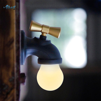 Creative Water Tap Usb Charging Voice Control Night Lights for Bar Cafe Children Room Baby Lamp Decoration Home Sensor Light Led