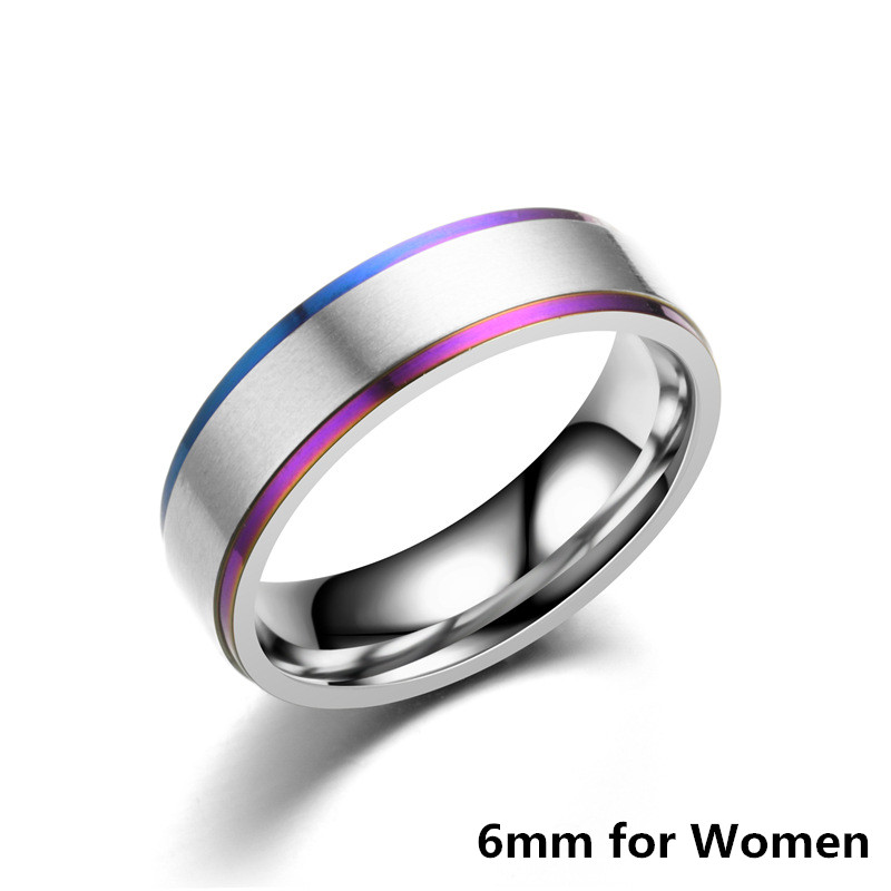 Classic Couple Wedding Rings For Men Women Titanium Steel Lover 39 s Engagement Wedding Bands Alianca De Casamento in Engagement Rings from Jewelry amp Accessories