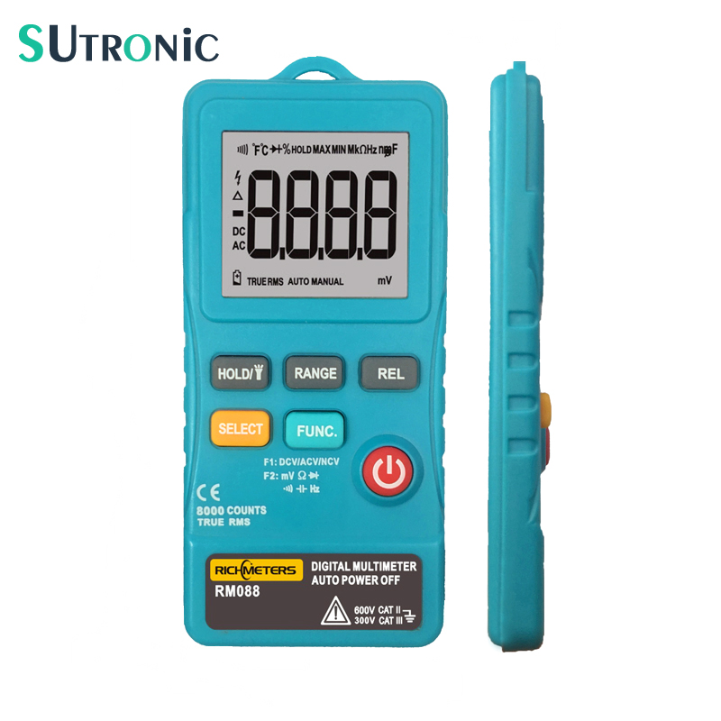 RM088 Extra Mini Digital-Multimeter 8000 zählt Linie Frequency True-RMS-licht AC/DC Spannung Ohm mit summer
