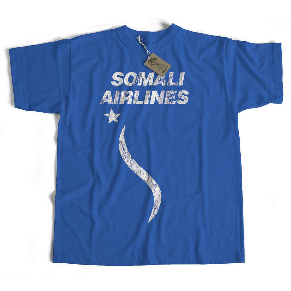 Somali Airlines T shirt Classic Retro Aviation Cult Airline Logo T shirt Cheap wholesale tees,T shirt printing,mens tee shirts