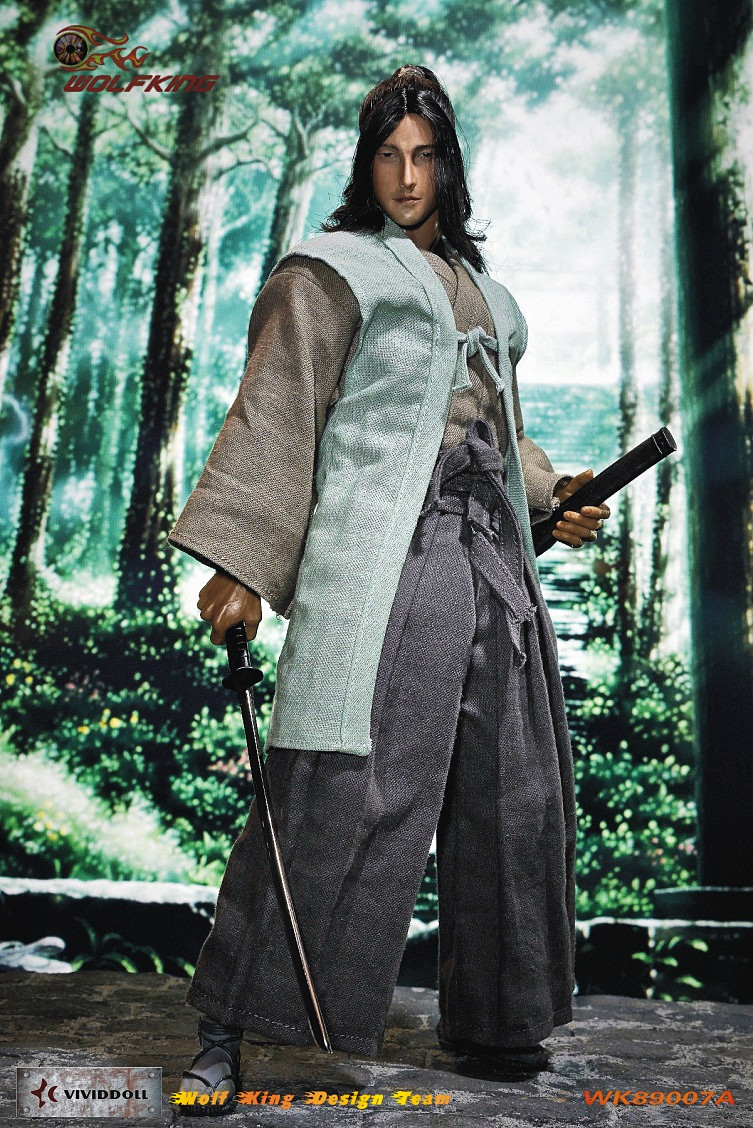 1:6 scale Super flexible male figure Japanese samurai Sasaki Kojiro 12 action figure doll Collectible Model Plastic toys
