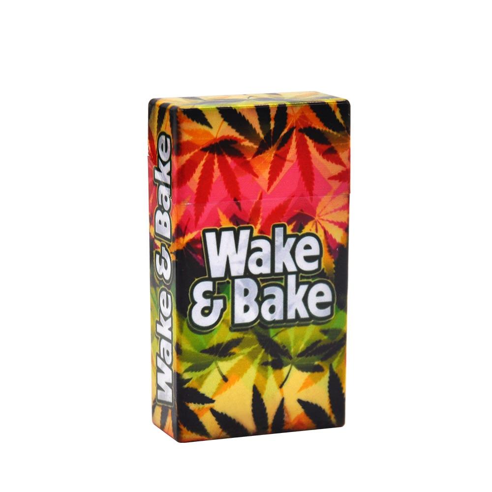 HORNET пластиковый чехол для сигарет 30 мм* 63 мм* 113 мм для тонких коробок для сигарет, высококачественный чехол для табачной коробки - Цвет: Wake-Bake