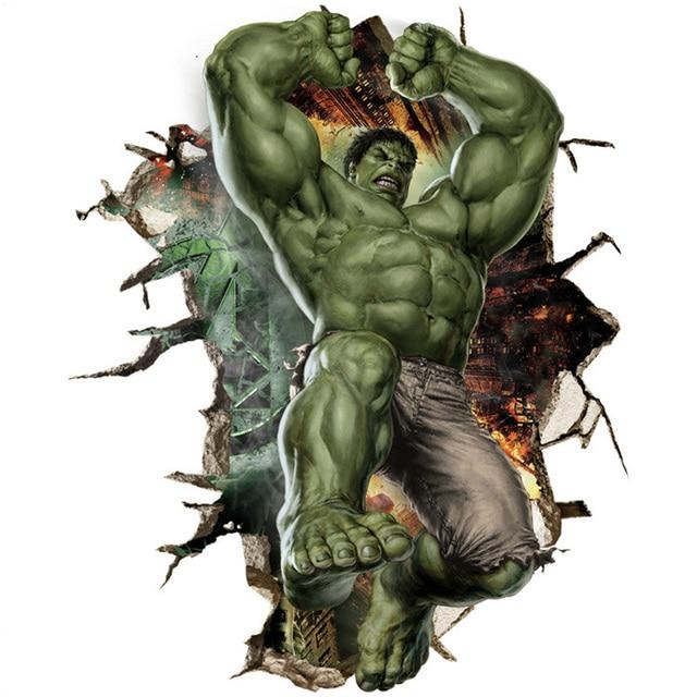 Kreative 3D Wandaufkleber Gebrochen Wand Design Green Giant Hulk Für ...