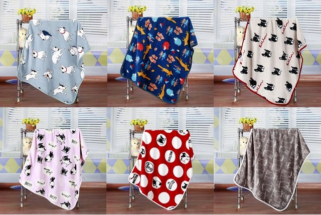 4040CM Catoon Animal Printed Baby Kids Fleece Blanket Throws On Interesting Kids Blankets And Throws