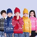 Girls Winter Clothes Christmas Cartoon Pullover Sweater Boys Coats Children Clothing Knitting Warm Sweater 2-14T Kids Clothes