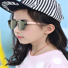 VESTEY 2017 Tide Children Sunglasses Boys and Girls Frameless Transparent Mirror Anti-UV Retro Glasses