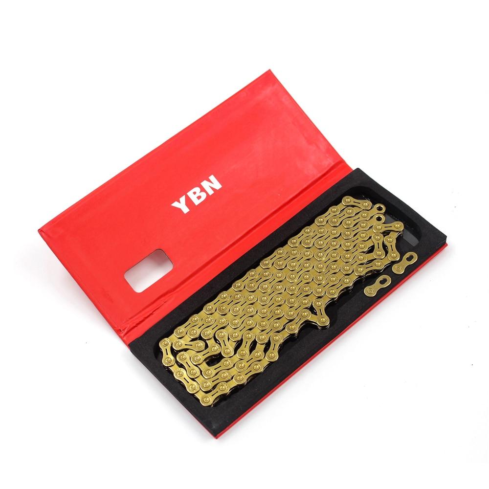 YBN 10/11/12 цепь для скоростного велосипеда объект соглашения о качестве предоставляемых услуг H11-TIG золото Титан покрытие цепь для дорожного ве...