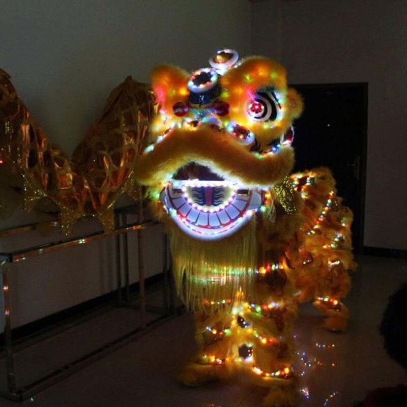 b74e7b495 LED Light Lion Dance Equipment Wushu Lion Dancing Costume Lion dance  Chinese festival business evening cosplay
