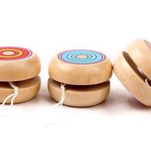1 шт., деревянные игрушки йойо, классические игрушки, деревянные YO-YO, вращающиеся шарики, 4,5 см, профессиональные игрушки-головоломки для детей, подарок, J0040