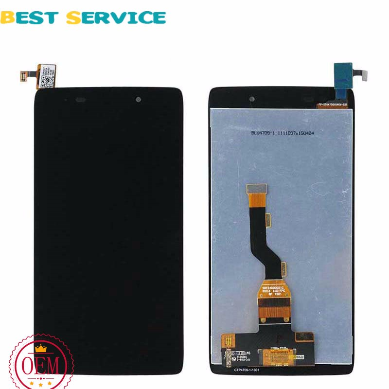 Original-For-Alcatel-One-Touch-Idol-3-6039-LCD-Display-Touch-Screen-Digitizer-Assembly-with-frame