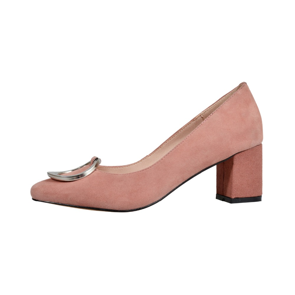 WETKISS หนังแท้ผู้หญิงปั๊มสแควร์ Toe รองเท้าสำนักงานรองเท้าสตรีตื้นรองเท้าส้นสูงรองเท้าผู้หญิงขนาดใหญ่ขนาด 34 43-ใน รองเท้าส้นสูงสตรี จาก รองเท้า บน   2