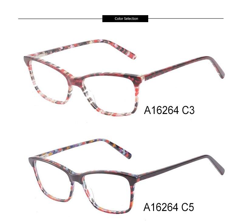 Kirka Optical Glasses Women Eyeglass Frames Spectacle Frames For Women Leopard Print Prescription Glasses Frame (14)