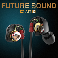 KZ ATE S Copper Driver In Ear Earphone HiFi Sport Headphones For Running With Foam Eartips